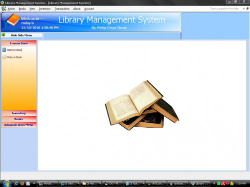 library management system in vb documentation