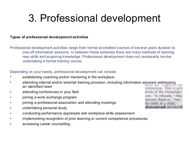 undertake and document development activities as planned