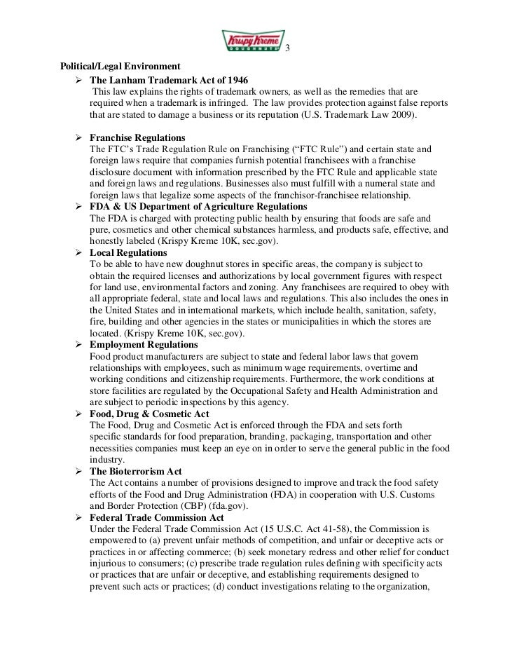 krispy kreme franchise disclosure document