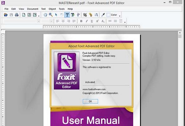 foxit advanced pdf editor select whole document