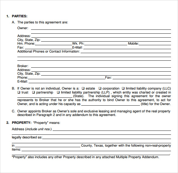 fixed term residential lease document