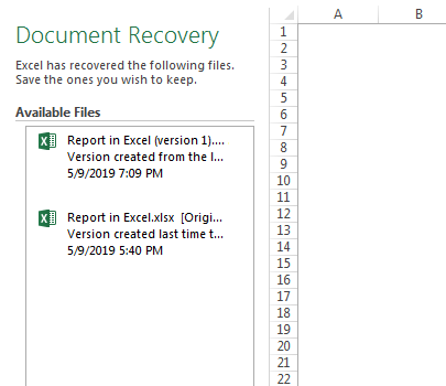 can you recover unsaved pages document