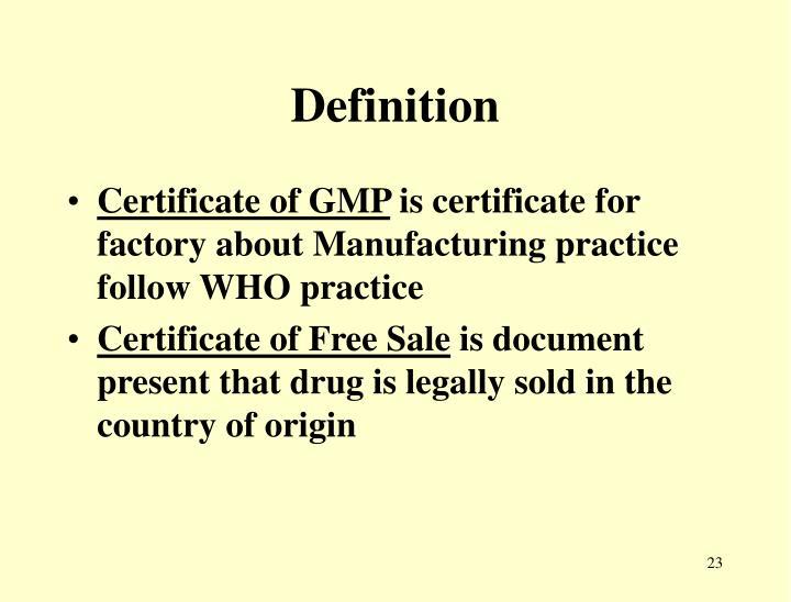 definition of gmp documentation
