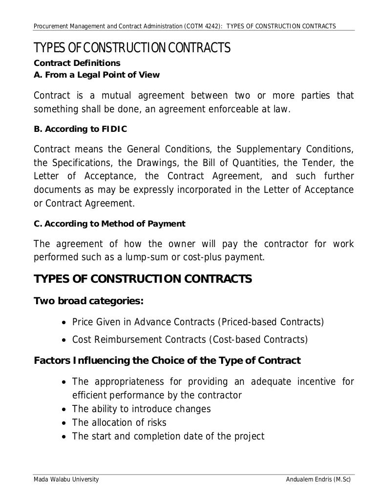 sample tender document for construction work