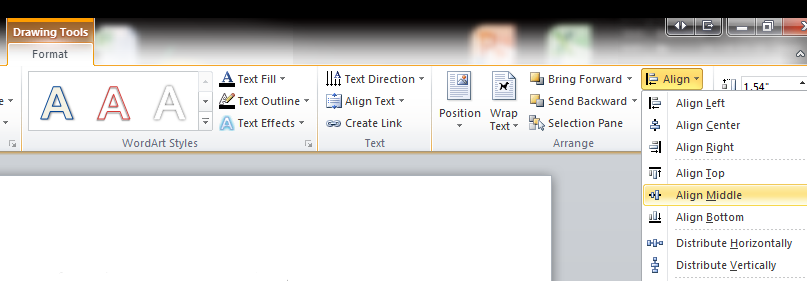 word document vertically word across entire document