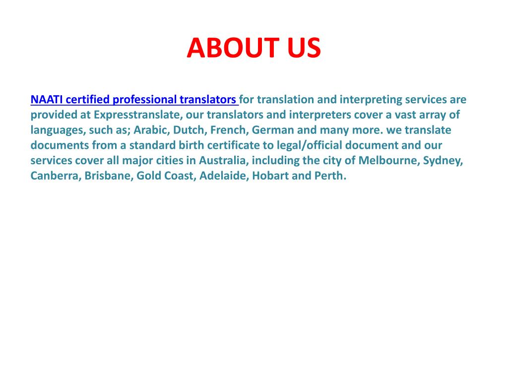 official document translation sydney australia