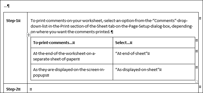 use html in word document
