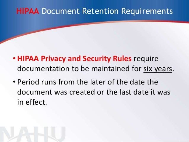statutory requirements for document retention