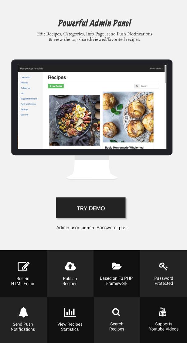 android recipe app documentation
