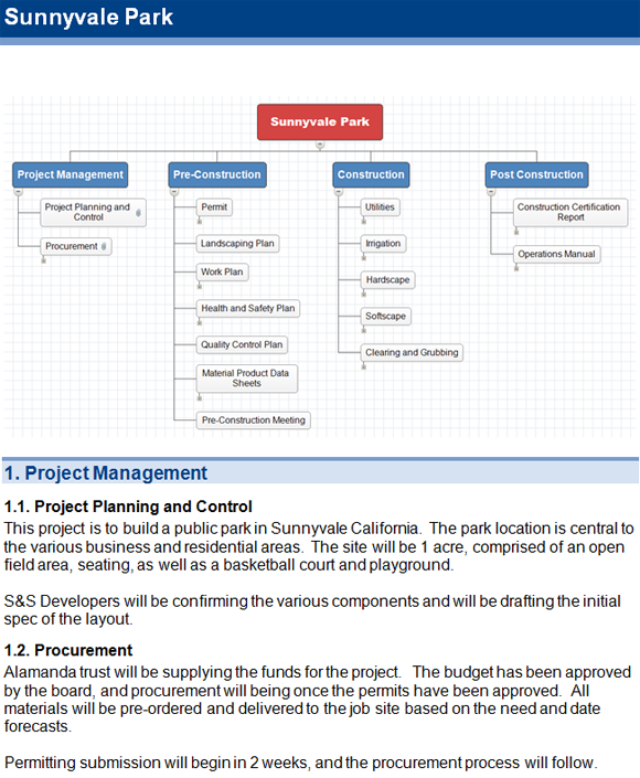 what is a project scope document