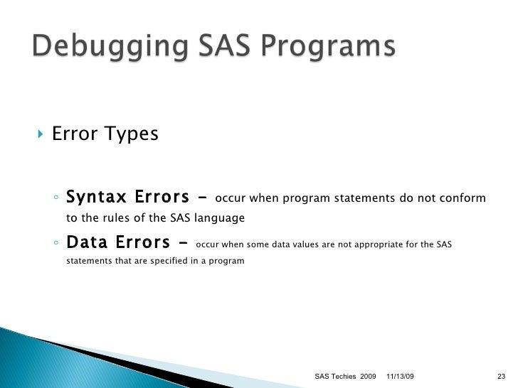 sas programming language documentation
