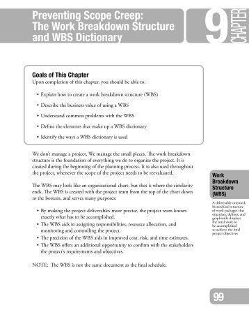 segment document work breakdown structure
