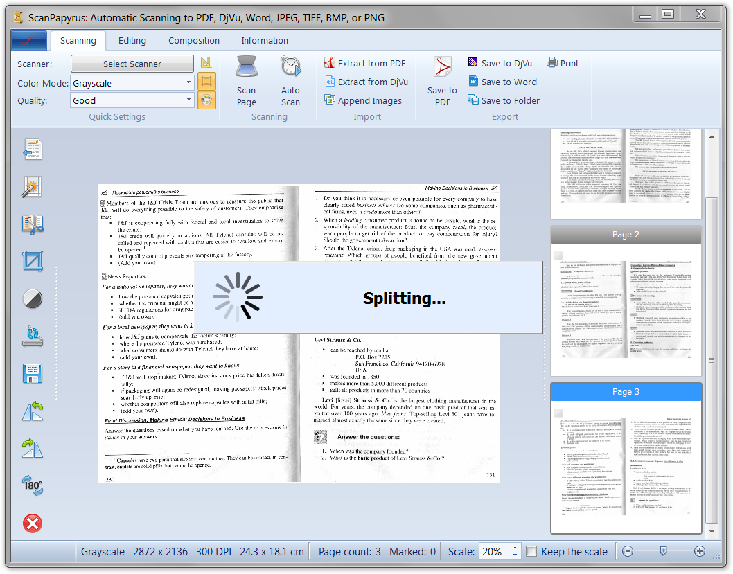 how to scan a paper into a word document