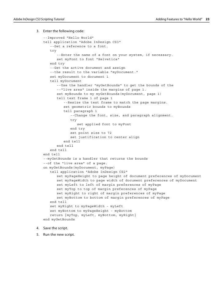 indesign apple script open document