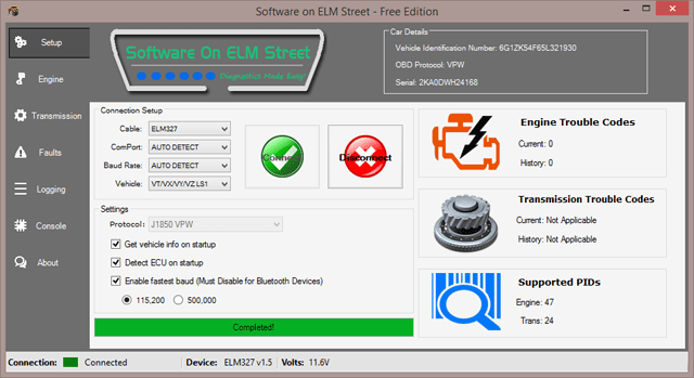 vt ls1 transmission diagnostics software soe documentation