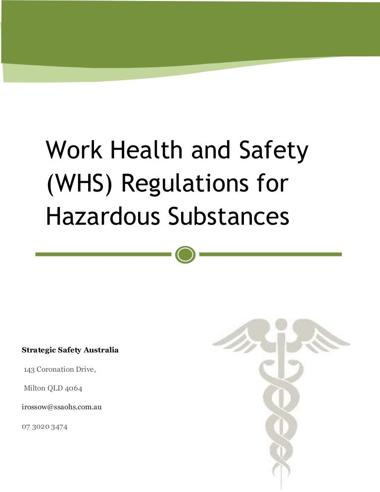 documentation in whs in workplace