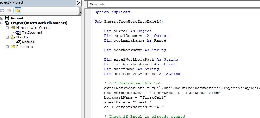excel vba paste range to word document