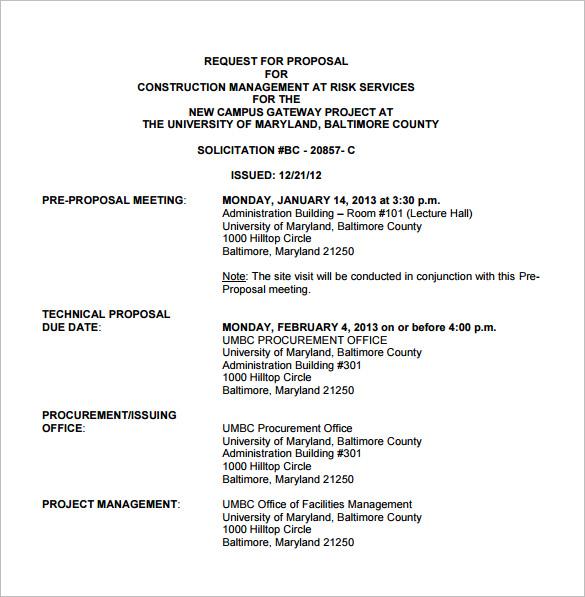 tender document format for building construction