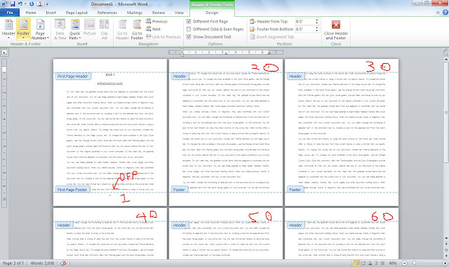 how to remove different page numbers in a word document
