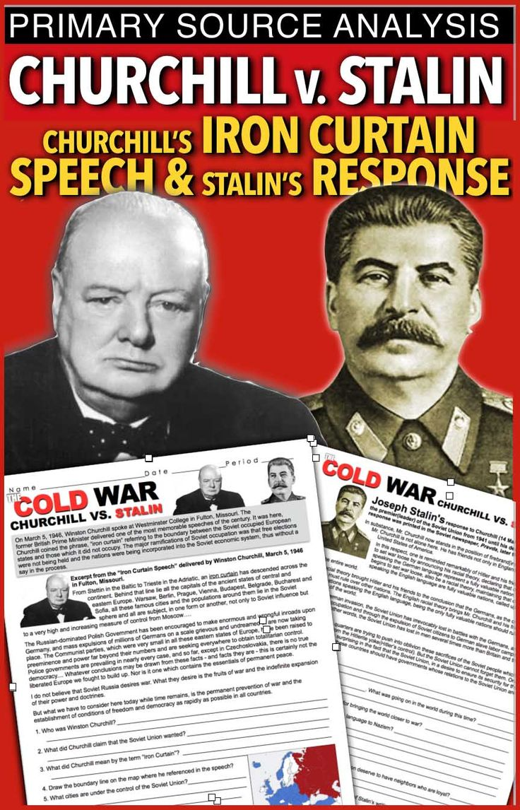 speech analysis document winston churchill the iron curtain speech