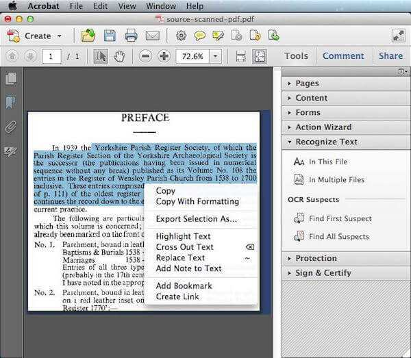 converting a text document to pdf