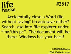 accidentally unsaved word document without saving