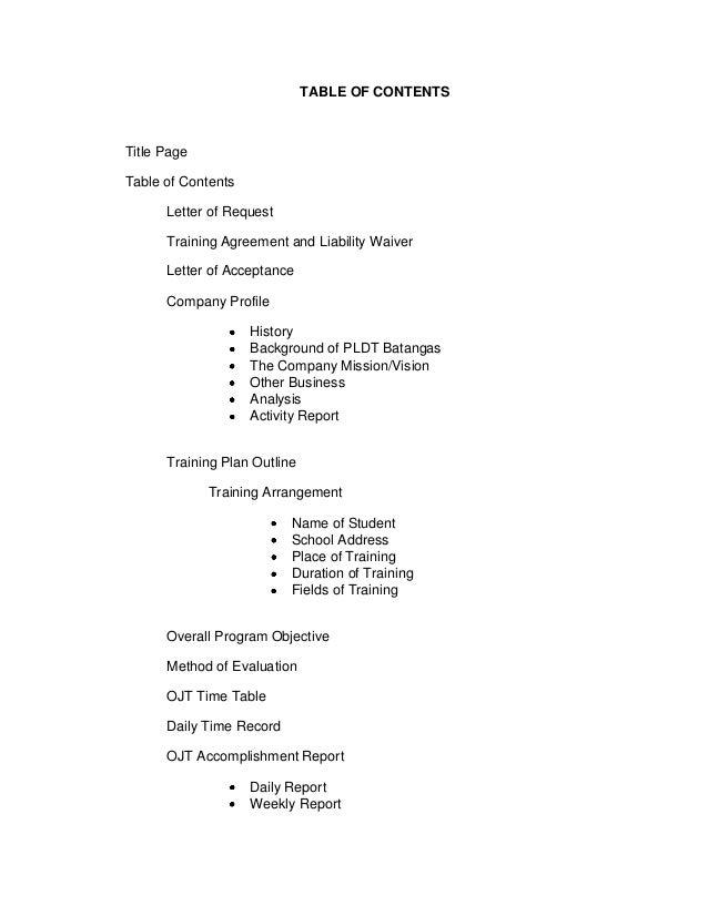 application test documentation sample