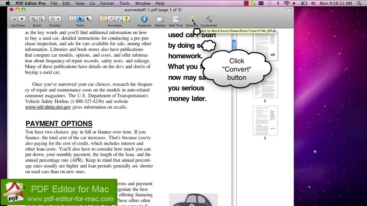 convert pdf to editable document