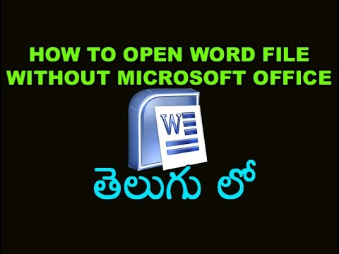 how to convert microsoft word document to opne office document