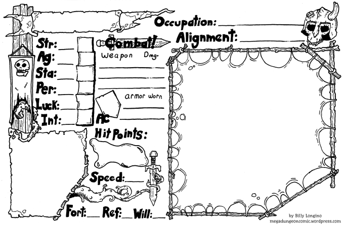 pathfinder character sheet word document