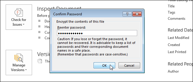 how to open a password protected word document 2007