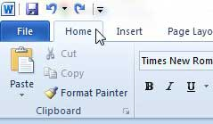 minimize the ribbon in the document provided