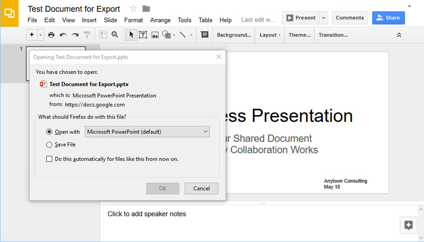 how do you convert a word document to powerpoint