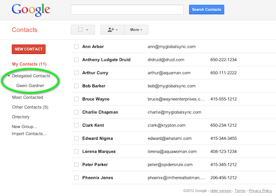 google drive sharing document with mailing list