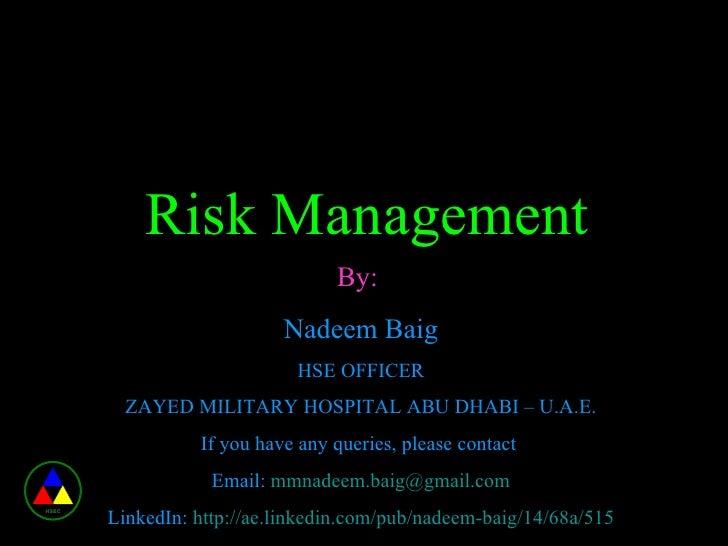 hospital risk management documentation
