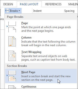 word document how to remove page break