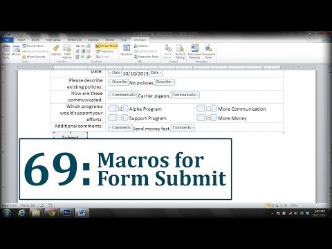 macro button in word document emailed