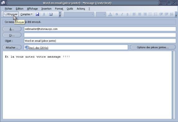 e-mail remerciement envoi document