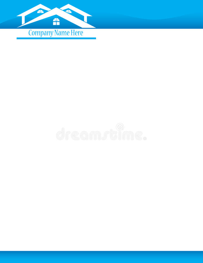 word document blue stationary look