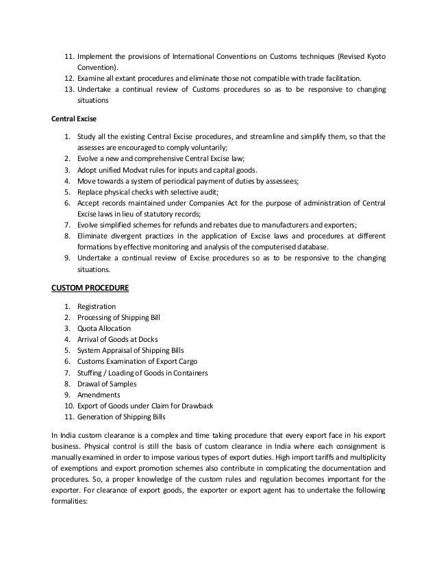 export import documentation and logistics pdf