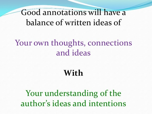 how to annotate a document