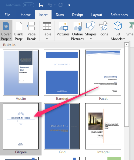 how to add pages from one word document to another
