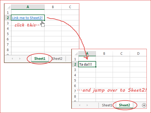 how to create a document link in excel