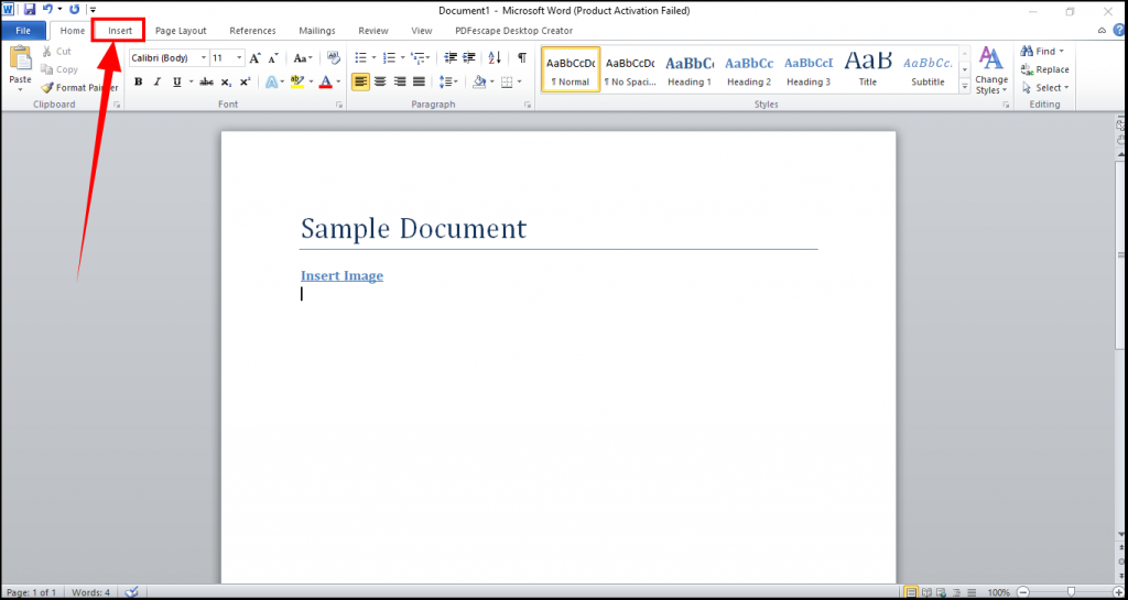 add lines to word document