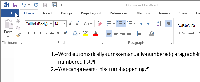 automatically index a word document