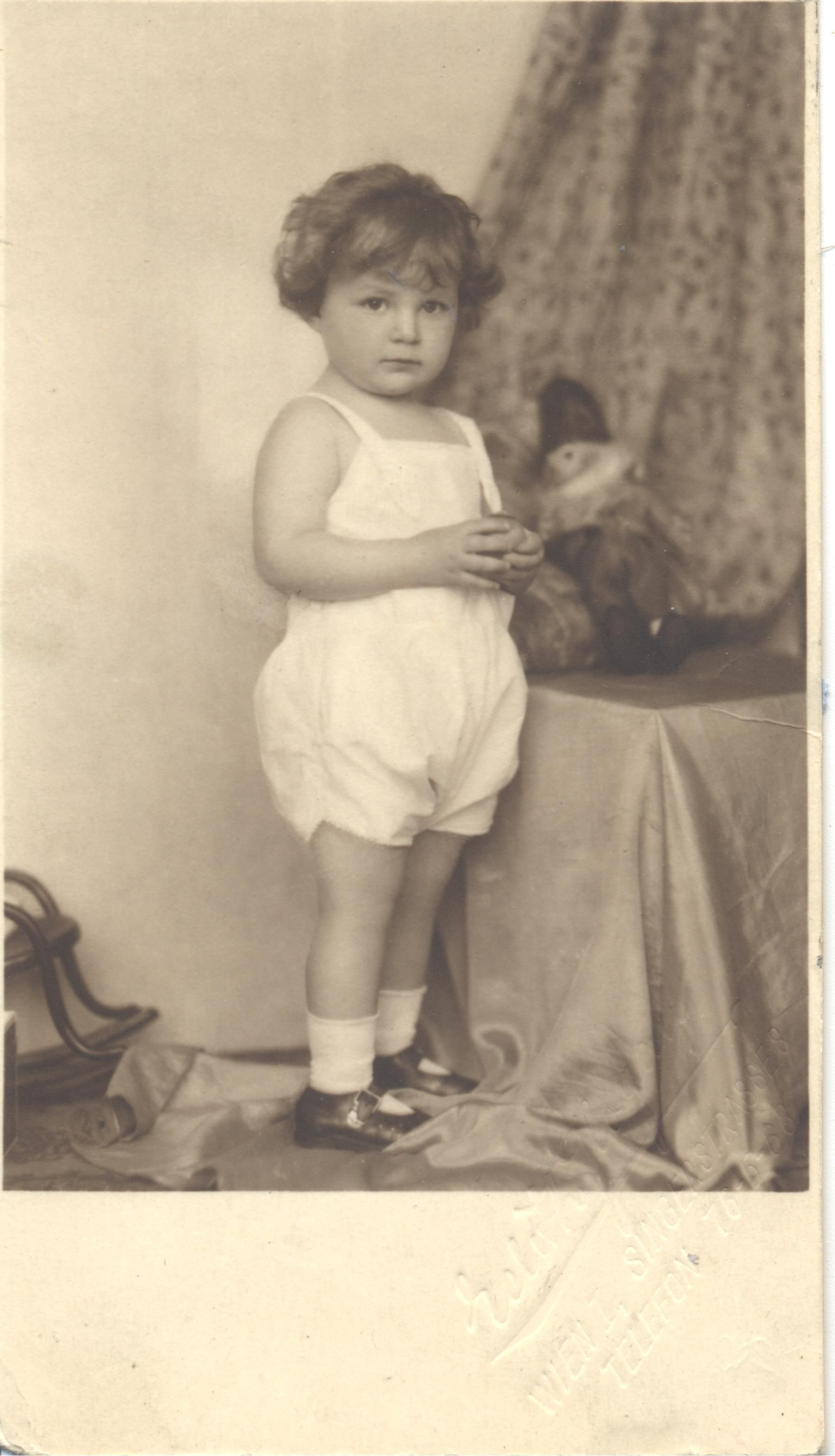 document with child name and photograph