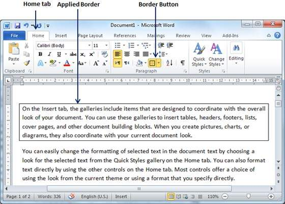 word document how to remove page border