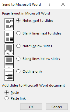how to include a powerpoint in a word document