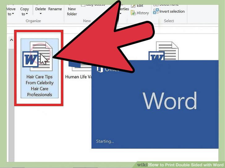 how to print a word document double sided