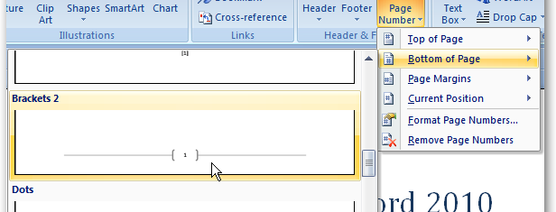 add page numbers to word document